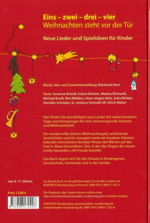 eins zwei drei vier weihnachten steht vor der t r. Black Bedroom Furniture Sets. Home Design Ideas