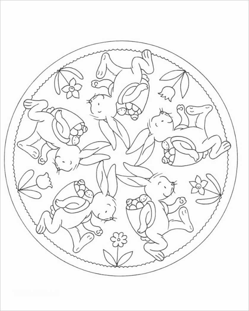 Ausmalbilder Mandalas Frühling : Group Of Mandalas Zu Ostern Mit