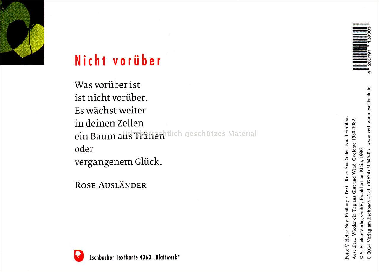 Textkarte 4363 Blattwerk